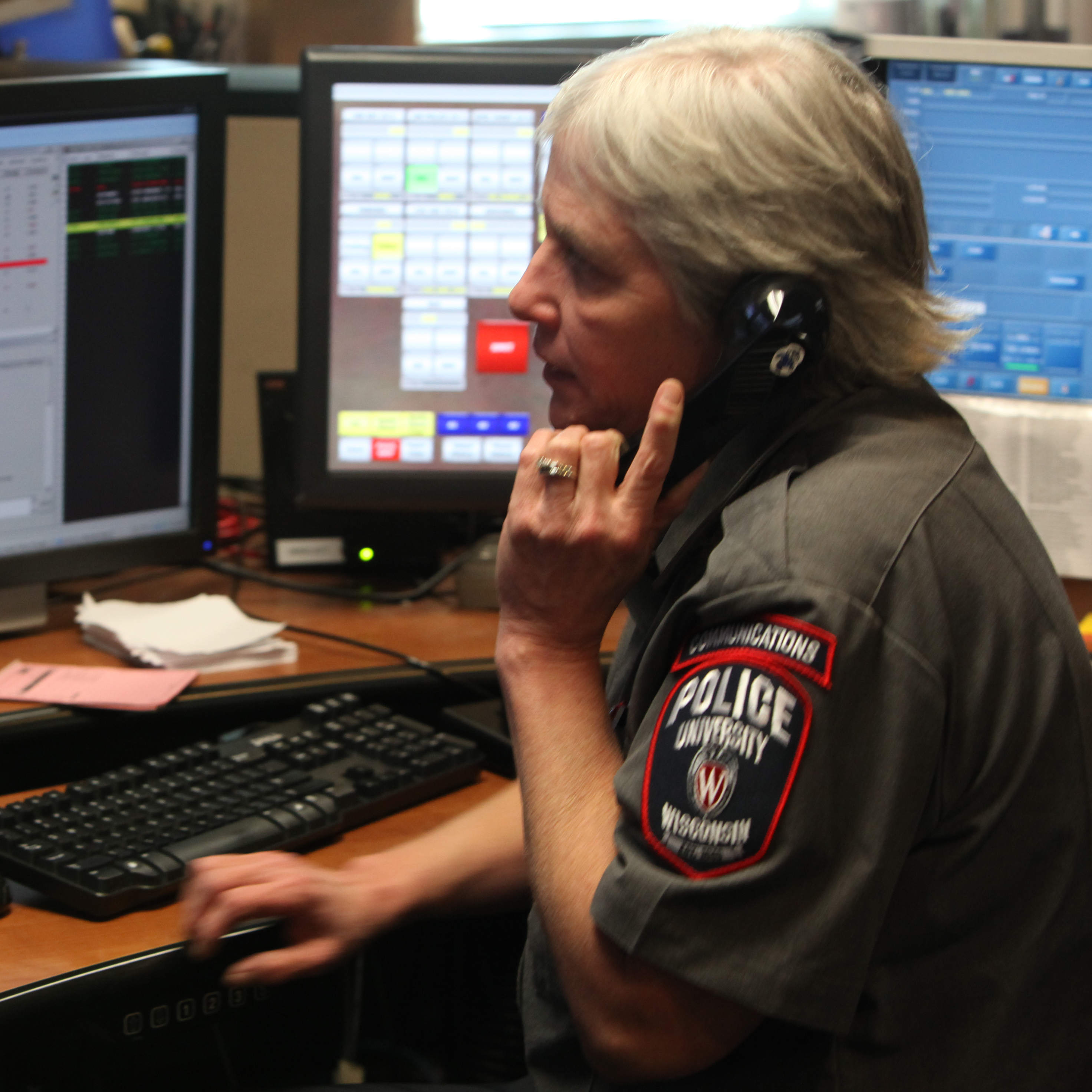 Phone sex line with dispatchers