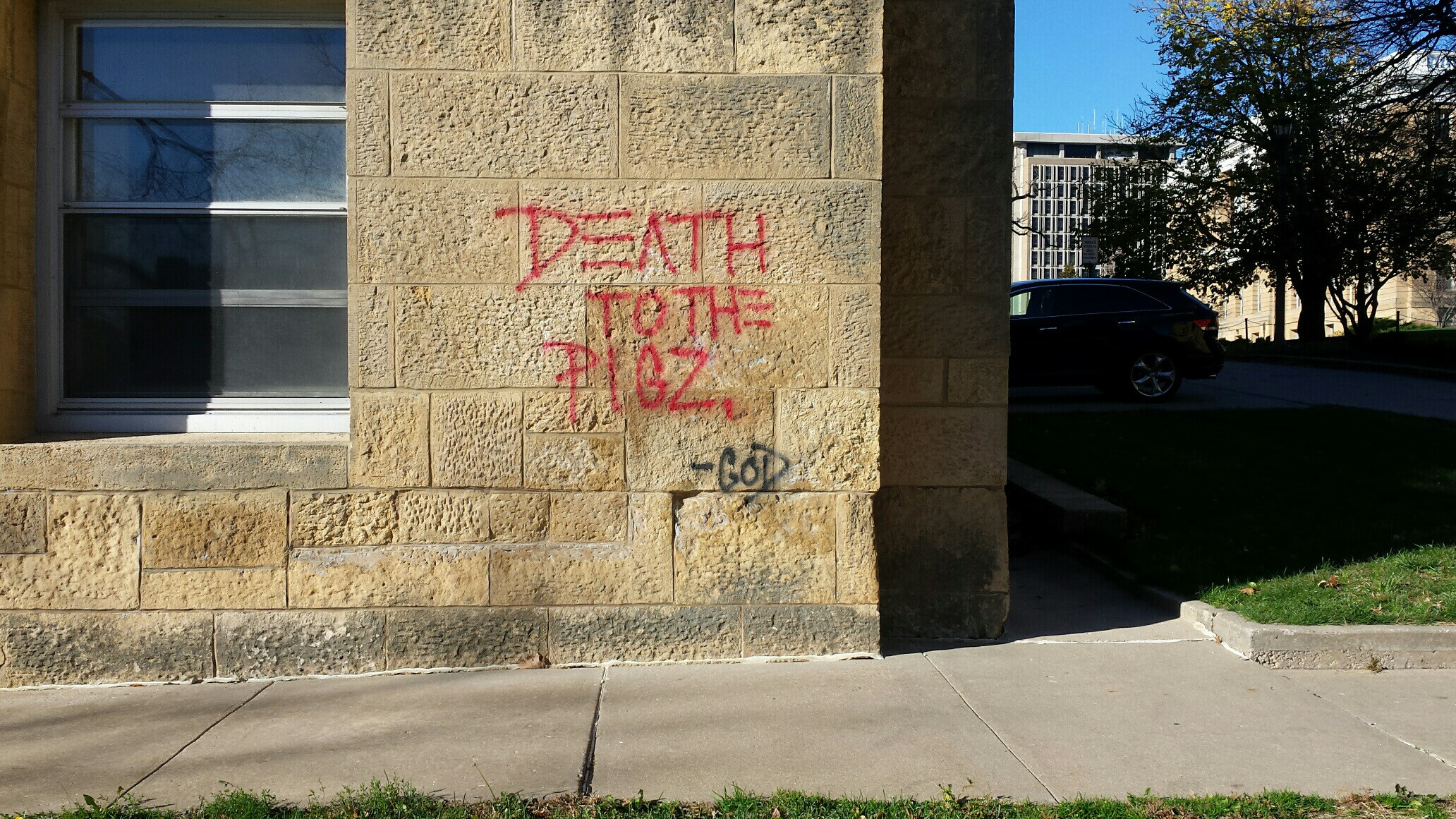 arrest made in campus graffiti cases