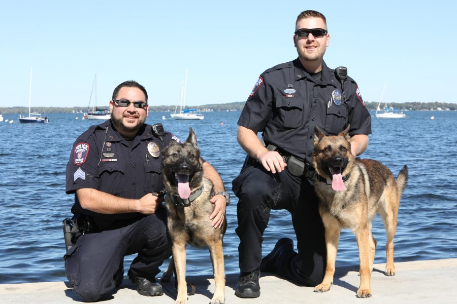 Members of UW-Madison Police Department K-9 Team