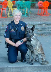 Lt. Cherise Caradine with K9 Casey