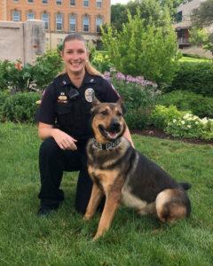 Officer Zautner with K9 Kobalt