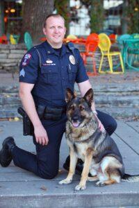 Lt. Brent Plisch and K9 Odin