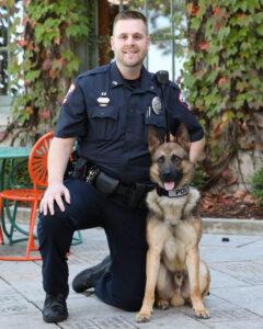 Officer Justin Zurbuchen with K9 Ritter